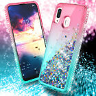For Samsung Galaxy A20 30 A50 Case Shockproof Liquid Quicksand Bling Phone Cover