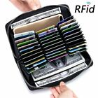 Anti-Theft Long Wallet Cards ID Holder Purse RFID Blocking Unisex Travel
