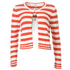 iBLUES MAX MARA Cardigan Red & White Cable Knit RRP £140 BG