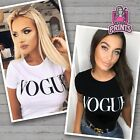 VOGUE T-Shirt Slogan Celebrity Fashion Top Women's Ladies