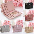 Small Leather Wallet for Women Credit Card Holder Coin Pocket Mini Bifold Purse image