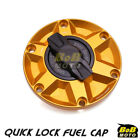 GOLD FCR 1/4 Quick Lock Gas Fuel Cap For Triumph Rocket III 10 11 12 13 14 $58.8 USD on eBay