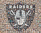 Oakland Raiders Player Mosaic Print Art of over 100 Past and Present Players $42.0 USD on eBay