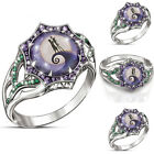 Womens Ladies Crystal Rings Rhinestone Wedding Jewelry Christmas Gifts Size 6-10