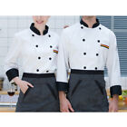 Mens Womens Hotel Chef Uniforms Button Short Sleeve T-shirt Restaurant Tops