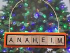 Anaheim Ducks Christmas Ornament Scrabble Tiles Magnet Rear View Mirror $8.99 USD on eBay
