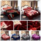 """Heavy Thick Blanket Winter Warm Mink Blanket For King size Bed 85"""" x 93"""" - 9 Lbs image"""