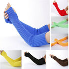 Kyпить Women Stretchy Long Sleeve Fingerless Gloves Knitted Mittens Arm Warmers Sleeves на еВаy.соm