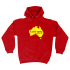Funny Novelty Hoodie Hoody hooded Top - Christmas Let It Snow Somewhere Else Xma