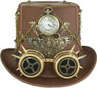Steampunk Cylinder with Pilot Glasses - Various Varieties - Gears Watch