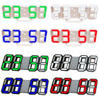 3D LED Digital Alarm Clock Changing Thermometer LCD Desk Bed Light  12/24 Hours