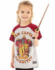 Harry Potter Quidditch Team Captain Girl's Short Sleeve Grey T-Shirt