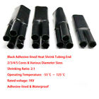 Black Adhesive-lined Heat Shrink Tubing End 1KV Cable Wire Sealing 2/3/4/5 Core