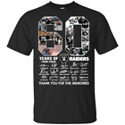 60 Years Of Oakland Raiders 1960 2020 T-Shirt Signature Thank You For The Mem... $20.99 USD on eBay