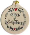 Queen of Everything Porcelain Christmas Ornament Gift Boxed
