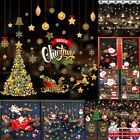 Uk Xmas Christmas Santa Removable Window Stickers Art Decal Wall Home Shop Decor