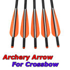 """16/20/22"""" Archery Crossbow Carbon Arrows Bolts Target Tips Hunting Shooting"""