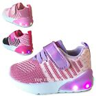 Kyпить NEW Baby Sneakers Knit Mesh Light Up Shoes Girls Infant Toddler Size 4 to 9 на еВаy.соm