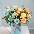 14-head Artificial Rose Bouquet Silk Fake Flowers Wedding Party Home Decoration