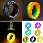 Charming Luminous Resin Tattoo Band Glow Night Light Discoloration Ring Gift New