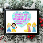 Personalised+Mother+Mum+Gifts+Mummy+Birthday+Her+Framed+Card+Disney+Princess