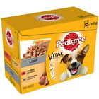 12x Pedigree Loaf Sachets Pack Adult Wet Dog Food Pouches Jelly Beef Chicken