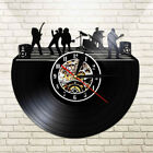 Classic Jazz Band Vinyl Record Wall CLock Musicians Music Night Playing Watch
