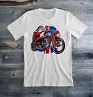 Triumph Motorcycle Santa Claus Christmas Tee Shirt $27.09 CAD on eBay