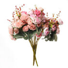 21Heads Silk Rose Artificial Flowers Bouquet Buch Wedding Home Party Decor AT