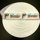 """7/8"""" Miami Dolphins Old Logo Grosgrain Ribbon by the Yard (USA SELLER!) $10.95 USD on eBay"""