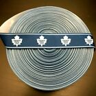"7/8"" Toronto Maple Leafs Blue Border Grosgrain Ribbon by the Yard (USA SELLER!) $10.95 USD on eBay"