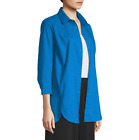 east 5th 3/4 Sleeve Tunic Top Size S New Directoire Blue Msrp $44.00