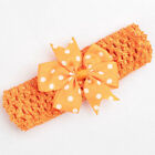 Baby Girls Headband Hairband Dotted Ribbon Bow Newborn Toddler Hair Accessories
