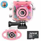 Waterproof Kids Camera Camcorder 12MP HD Kids Action Camera Video Recorder Under