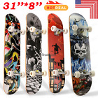 """31""""x8"""" Cool Design Maple Wood Skateboard Complete Longboard Street Scooter Gift# image"""