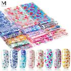 10/16 piezas mixtas de papel de uñas Starry Flower Transfer Paper Nail Sticker