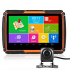 "4.3"" Car GPS Navigation Motorcycle Vehicle Nav BT IPX7 NA Maps Android WIFI+DVR"