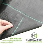 50m Long - Weed Control Fabric 100gsm Ground Landscape Garden Cover Membrane