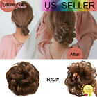 Natural Messy Rose Bun Curly Scrunchie Hair Extensions Updo As Human Hairpiece for sale  Shipping to South Africa