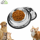 Stainless Steel Dog Bowl Rubber Base Small Medium Large Pets Feeder Water Bowl