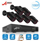 ANRAN 8CH 1080P AHD Outdoor CCTV Security Camera System HDMI DVR With Hard Drive