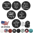 [6-PACK] Premium PU Leather Round Coasters Wine Beer Drink Mats W/ Holder Set US