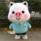 Happy Lovely Pig Mascot Costume Suit Cosplay Party Game Dress Outfits Adults NEW