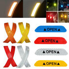 2/4pcs Safety Reflective Tape Open Sign Warning Mark Car Door Stickers Decal