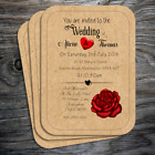 Wedding Invitations - Personalised Vintage Postcard Style with envelopes