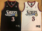 NEW Allen Iverson #3 Philadelphia 76ers Men's Throwback Jersey Black / White