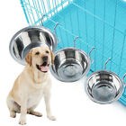 Stainless Steel Pet Dog Bowl Food Water Drinking Cage Cup Hanger Food Water Bowl