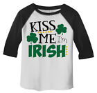 Shirts By Sarah Toddler Funny ST. Patrick's Day T-Shirt Kiss Me I'm Irish ¾ Slee