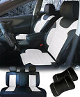 PU Leather Car Seat Covers Cushion Full Set Front/Rear SUV Truck Bucket 80255 W $89.9 USD on eBay