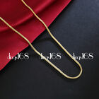 Real 18k Gold Filled Tarnish-free Snake Chain Necklace 16
